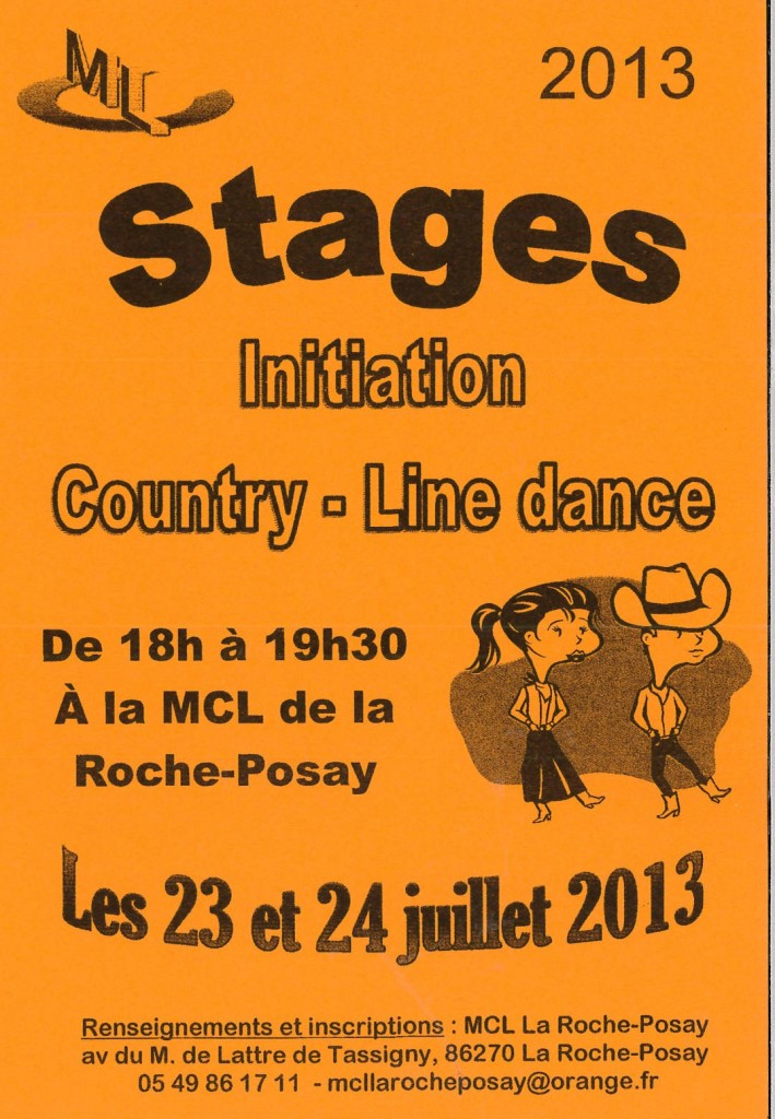 Stage line dance