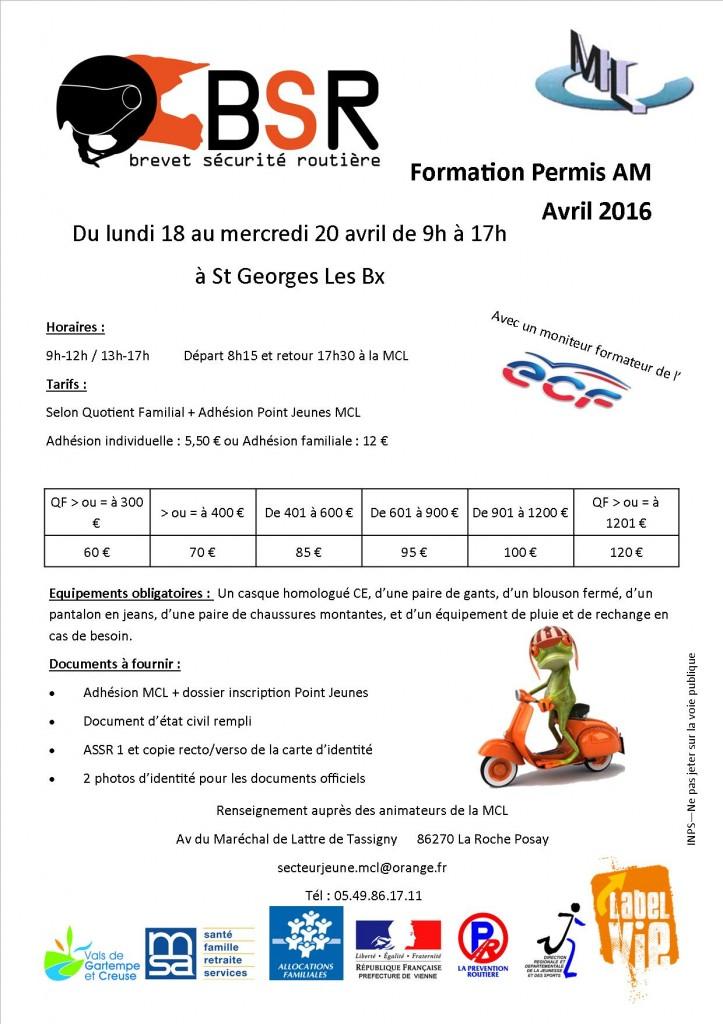 Plaquette permis AM 2016