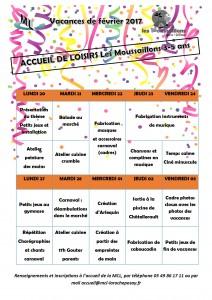 planning activités moussaillons